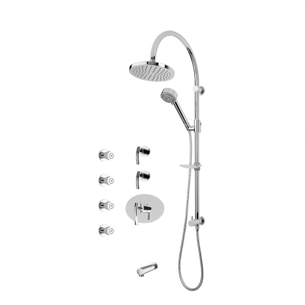 3/4'' thermostatic shower kit cc color