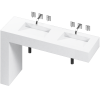 BALANCE 2 DOUBLE BOWL ONE PIECE VANITY SINK BLANCO ZEUS COLOR