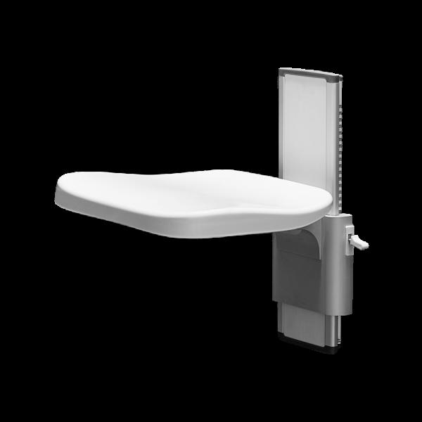 ELLA ADJUSTABLE SHOWER SEAT METRO WHITE COLOR
