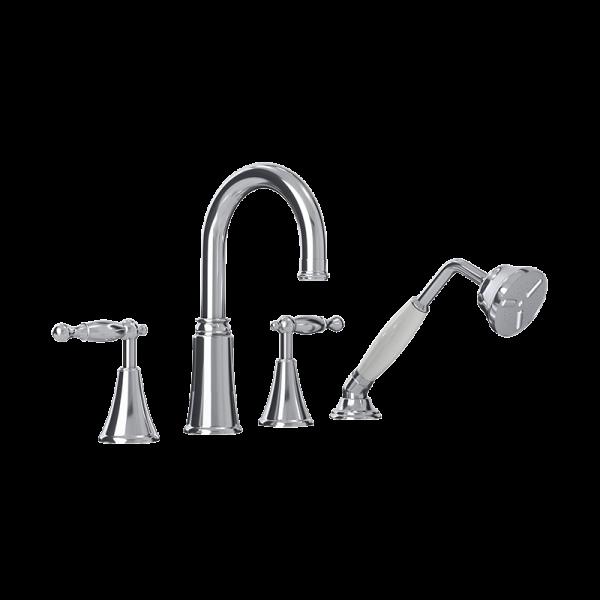 Four piece bathtub faucet cc color