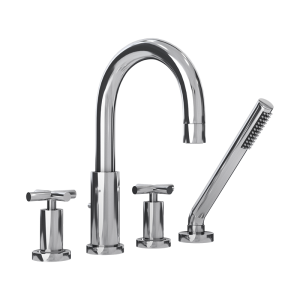 Four piece bathtub faucet cc color