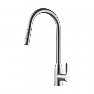 JACKSON BRUSHED STAINLESS STEEL KITCHEN EMPIRE FAUCET
