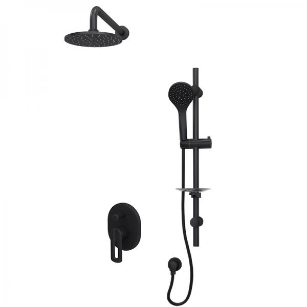 Pressure balanced shower kit bk color