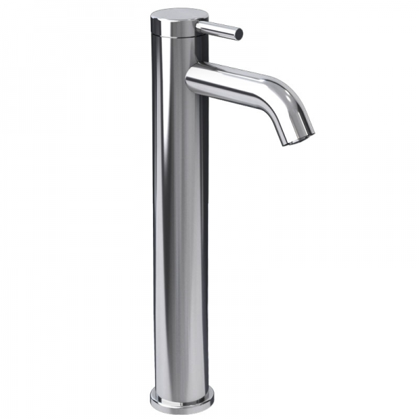Raised single lever bathroom faucet cc color