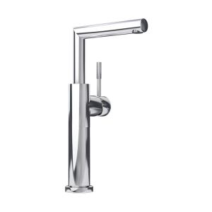 Raised single lever washbasin faucet cc color