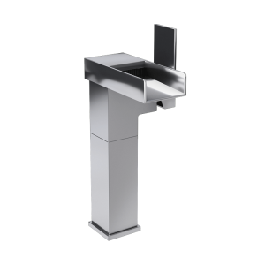 Raised single lever washbasin faucet cc color
