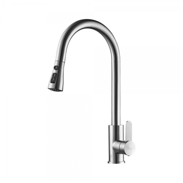 SASHA BRUSHED STAINLESS STEEL KITCHEN EMPIRE FAUCET