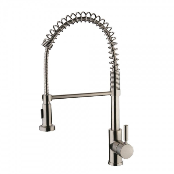 SPRING BRUSHED NICKEL KITCHEN FAUCET