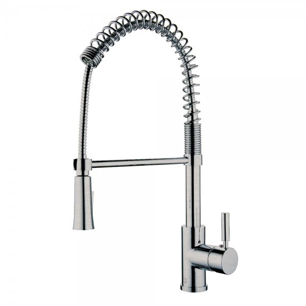 SPRING SPOUT II BRUSHED NICKEL KITCHEN FAUCET