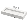 SILENCE 1200 DOUBLE BOWL ONE PIECE VANITY SINK NATURA COLOR