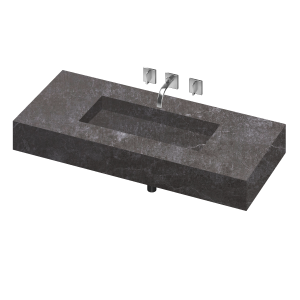 SILENCE 900 SINGLE BOWL ONE PIECE VANITY SINK LAOS COLOR