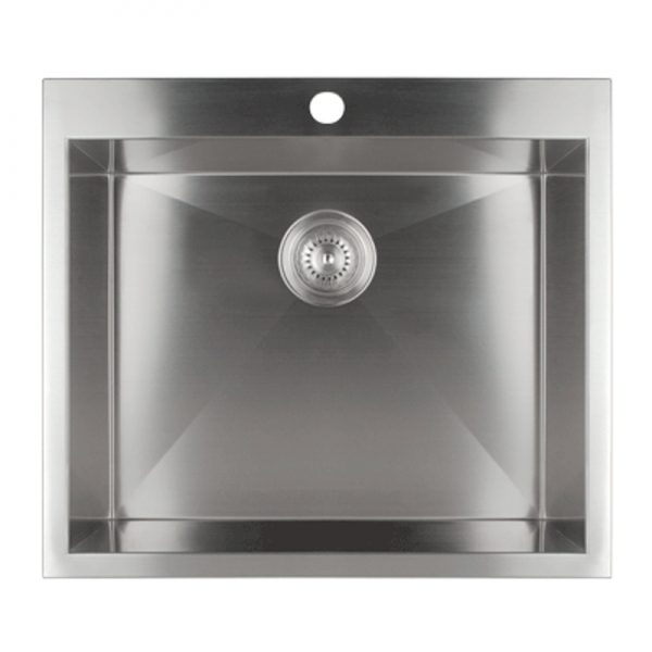 SINGLE BOWL KITCHEN SINK WITH SQUARE CORNERS