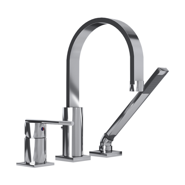 Three piece bathtub faucet cc color