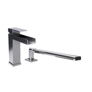Two piece bathtub faucet cc color