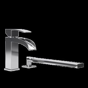 Two piece bathtub faucet cc color
