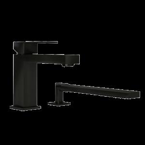 Two piece bathtub faucet bk color