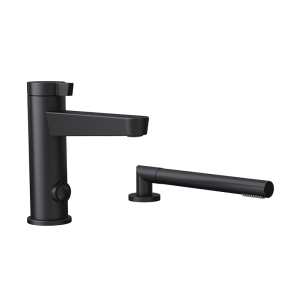 Two pieces bathtub faucet bk color