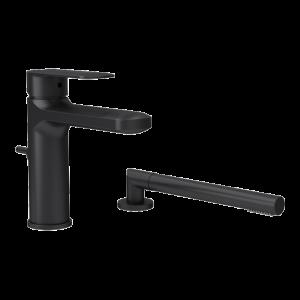 Two pieces bathtub faucet bk color