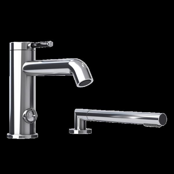 Two pieces bathtub faucet ck color