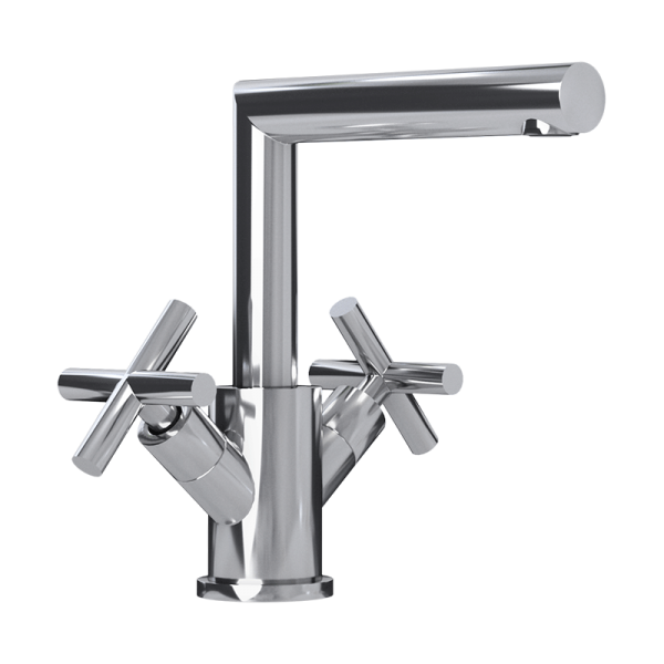 Washbasin faucet with cross handles cc color